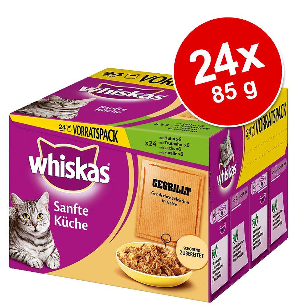 Megapack Whiskas Sanfte Küche im Frischebeutel 24 x 85 g - gegrilltes Geflügel