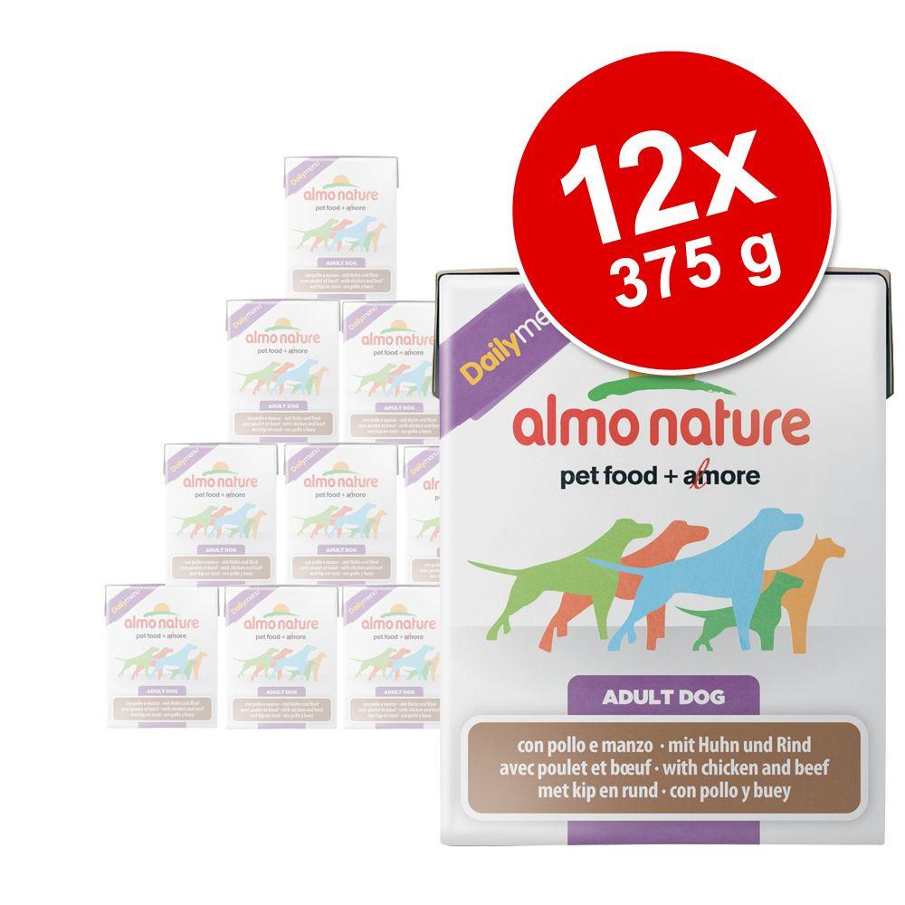 Korzystny pakiet Almo Nature Daily Menu, 12 x 375 g - Tuńczyk z ryżem