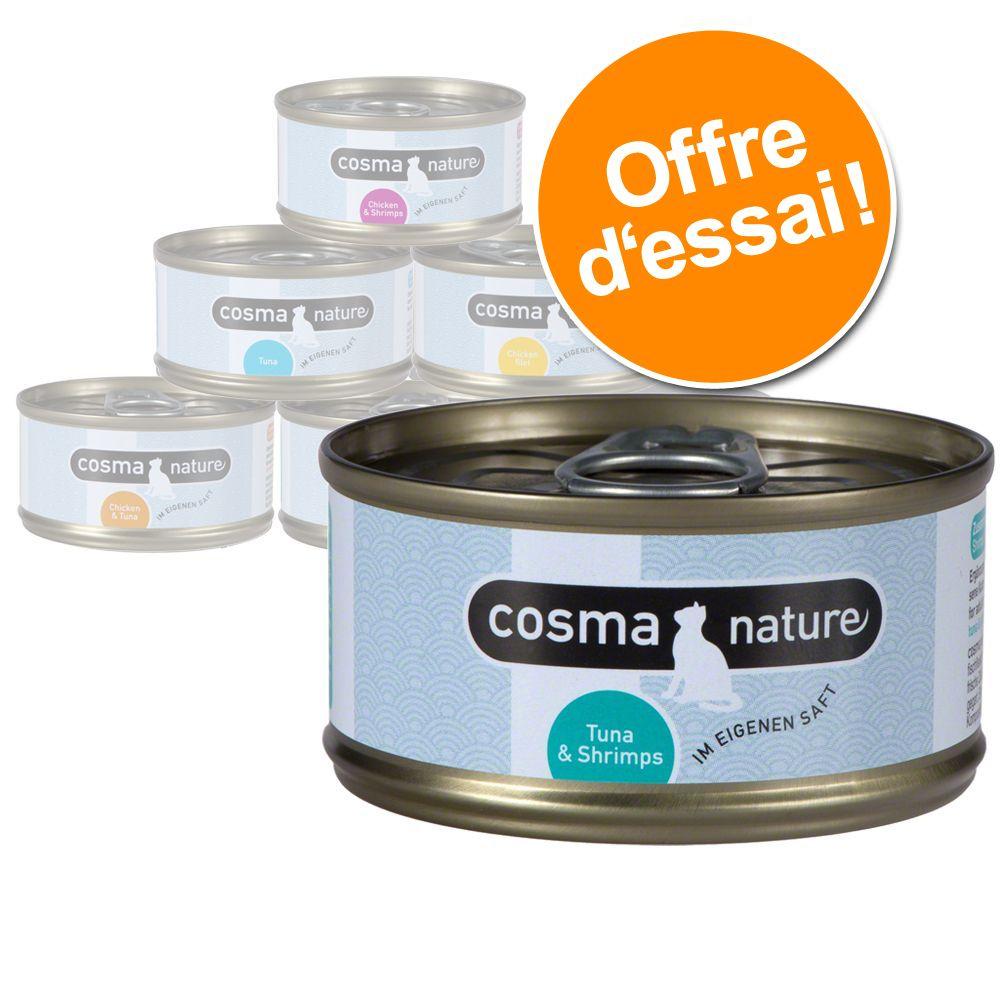 Chat Boîtes et sachets ★ Cosma Nature Offres d´essai nourriture humide Cosma Nature