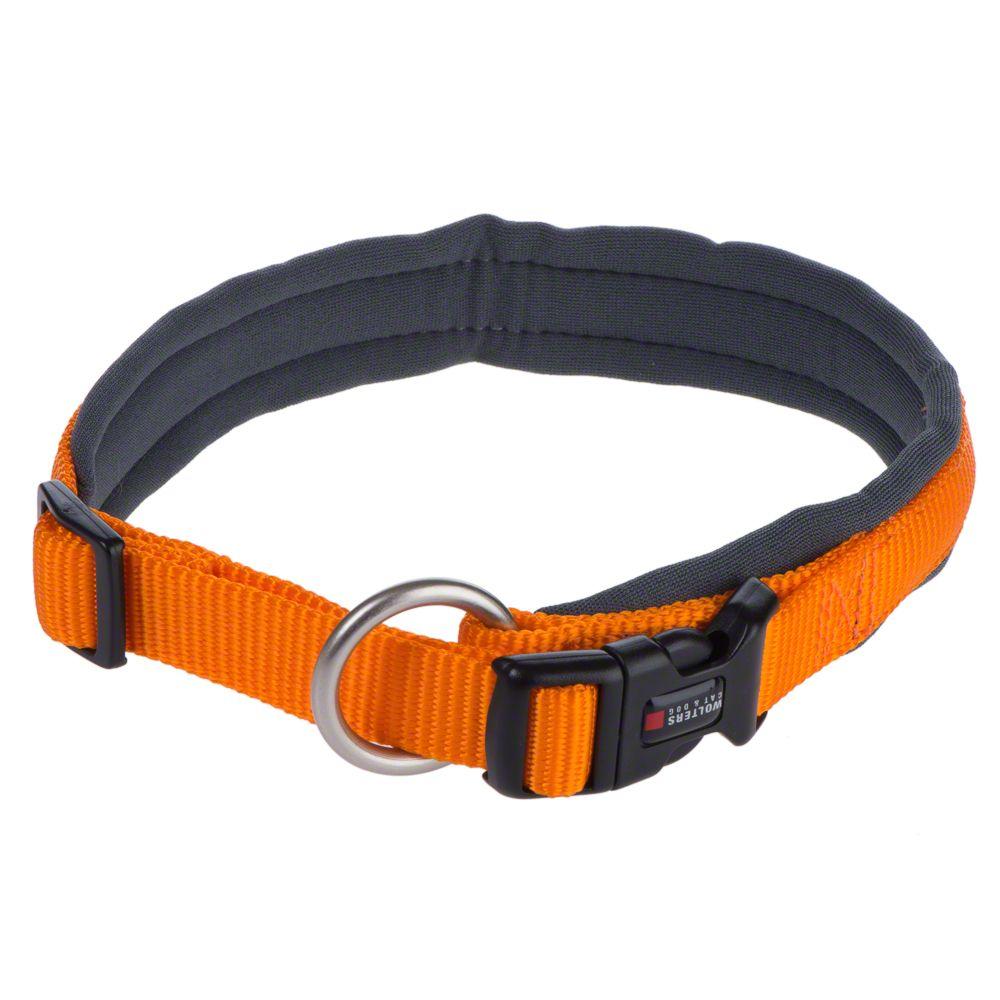 Wolters Halsband Professional Comfort mango/schiefer - Gr. 8: 60 - 65 cm Halsumfang, B 35 mm