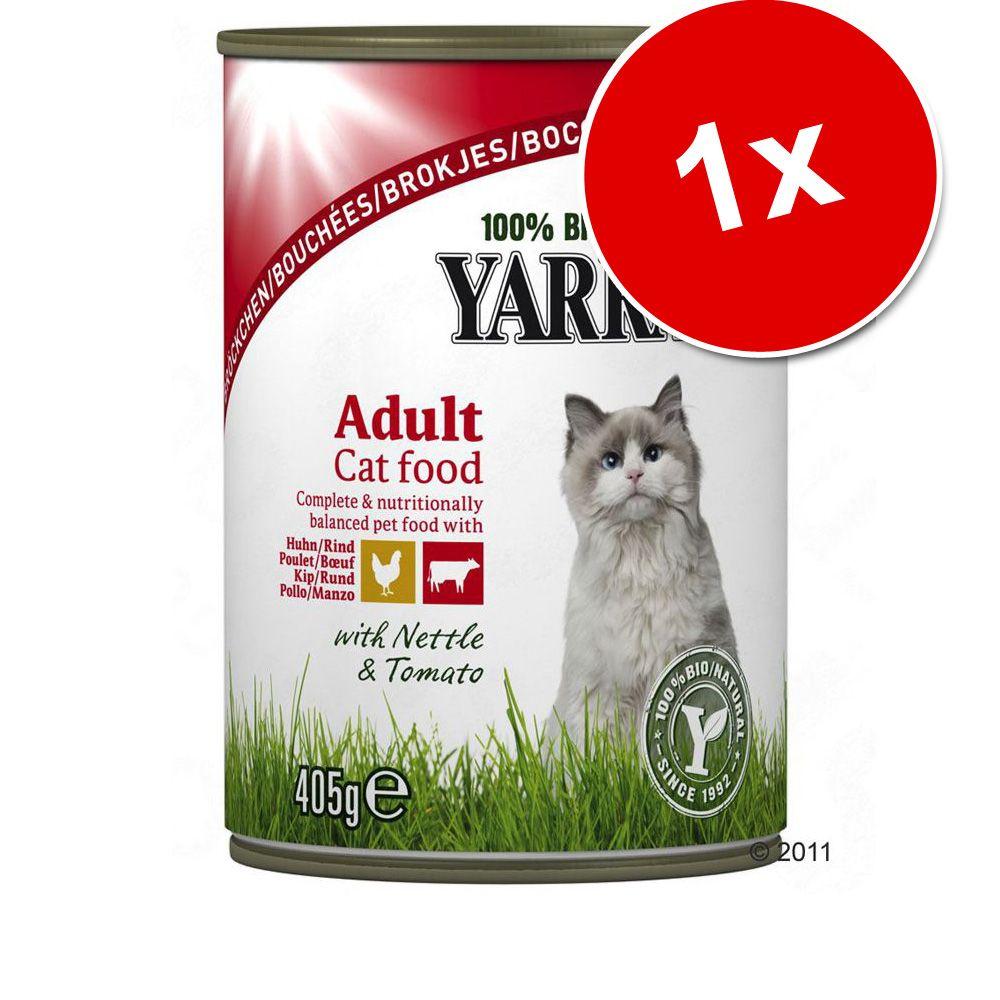 Yarrah Bio kawałeczki, 1 x 405 g - Kurczak i wołowina
