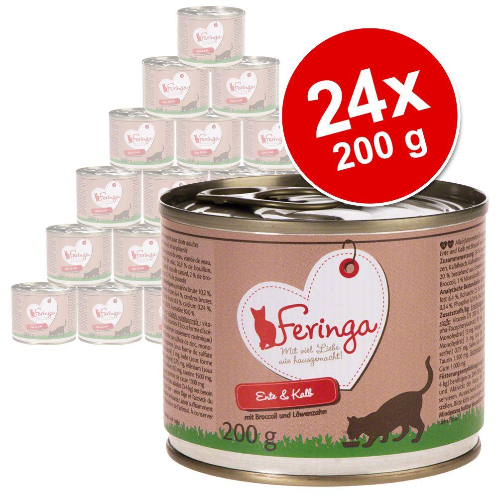24x200g Menus Duo truite, poulet, pommes de terre, persil Feringa - Nourriture pour Chat