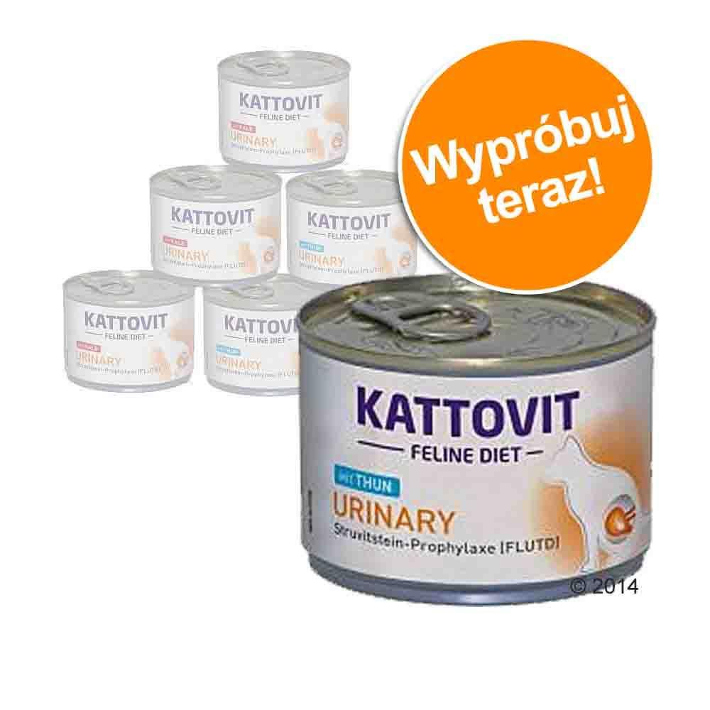 Pakiet próbny Kattovit Urinary, 6 x 175 g - Tuńczyk i cielęcina