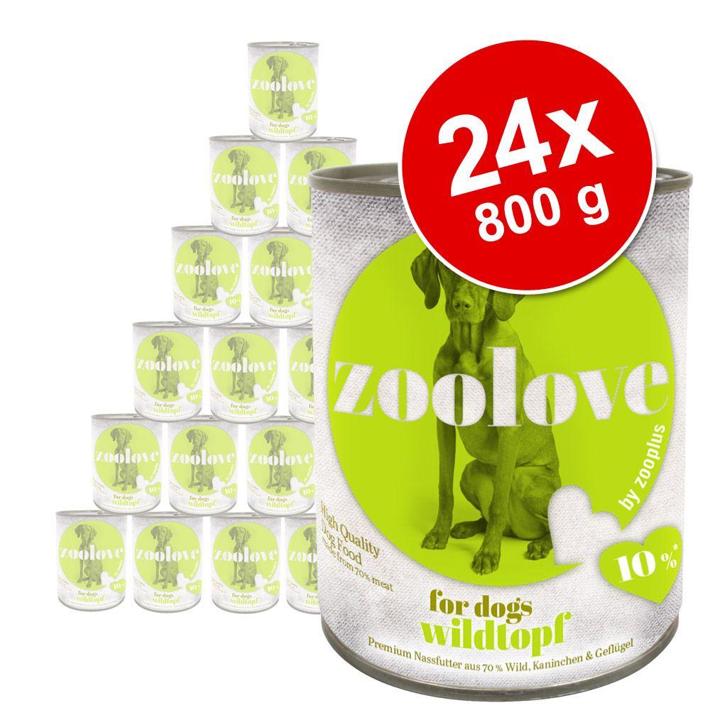 Foto zoolove Cibo umido per cani 24 x 800 g - Delizie al pollo