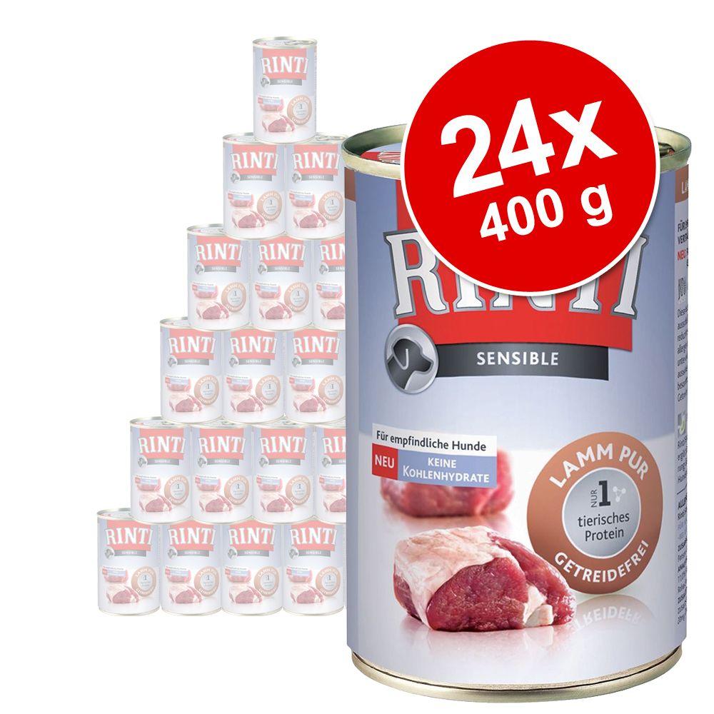 Megapakiet Rinti Sensible Pur, 24 x 400 g - Kaczka
