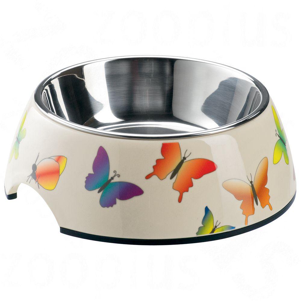 Gamelle Hunter en mélamine, papillons pour chien et chat - 350 mL