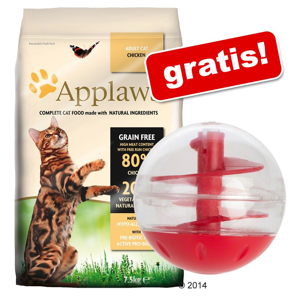 7,5 kg Applaws + Snackball kattleksak på köpet! - Chicken