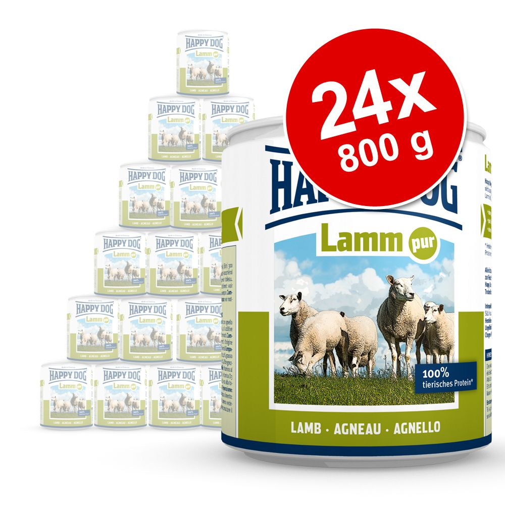 Ekonomipack: Happy Dog pure 24 x 800 g – Lamm