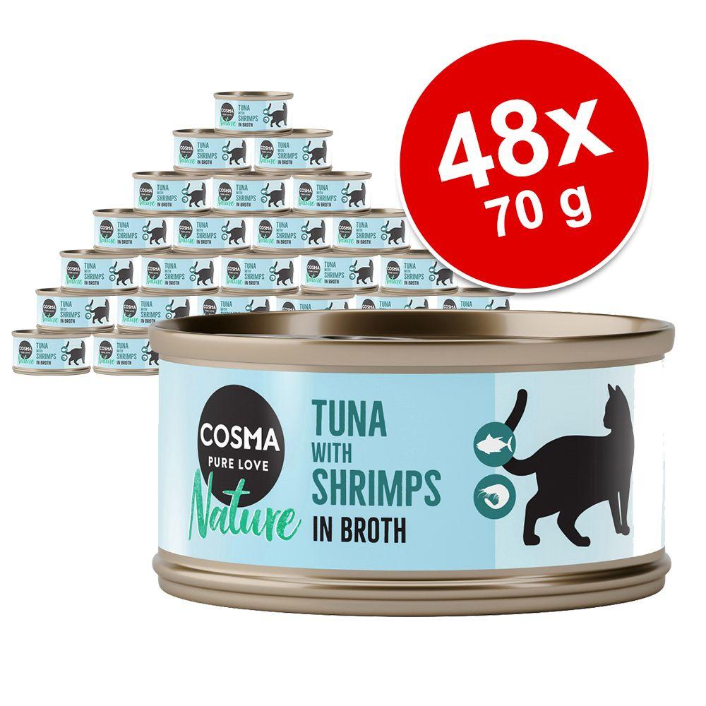 Ekonomipack: Cosma Nature 48 x 70 g - Kycklingbröst & tonfisk