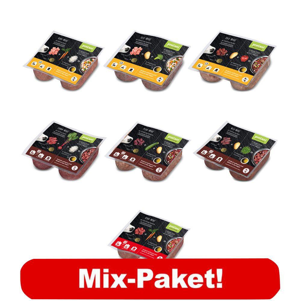 proCani BARF Wochenpaket Menü 7 verschiedene Produkte - 40 x 2 x 200 g