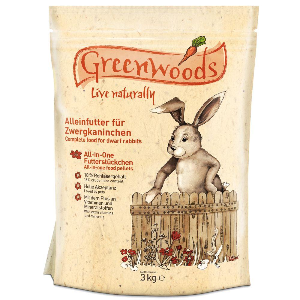 3 kg Greenwoods Zergkaninchenfutter