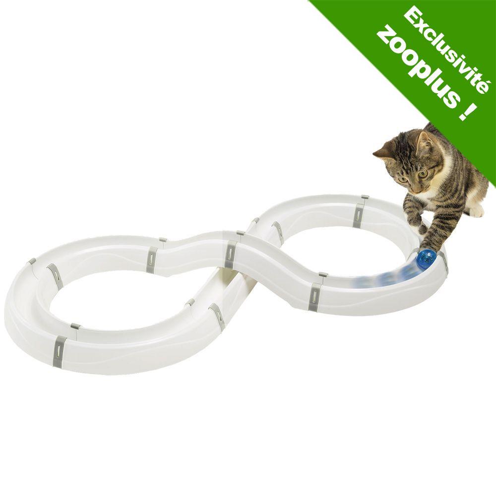 Flashlight Circuit de jeu blanc/gris - Jouet pour chat