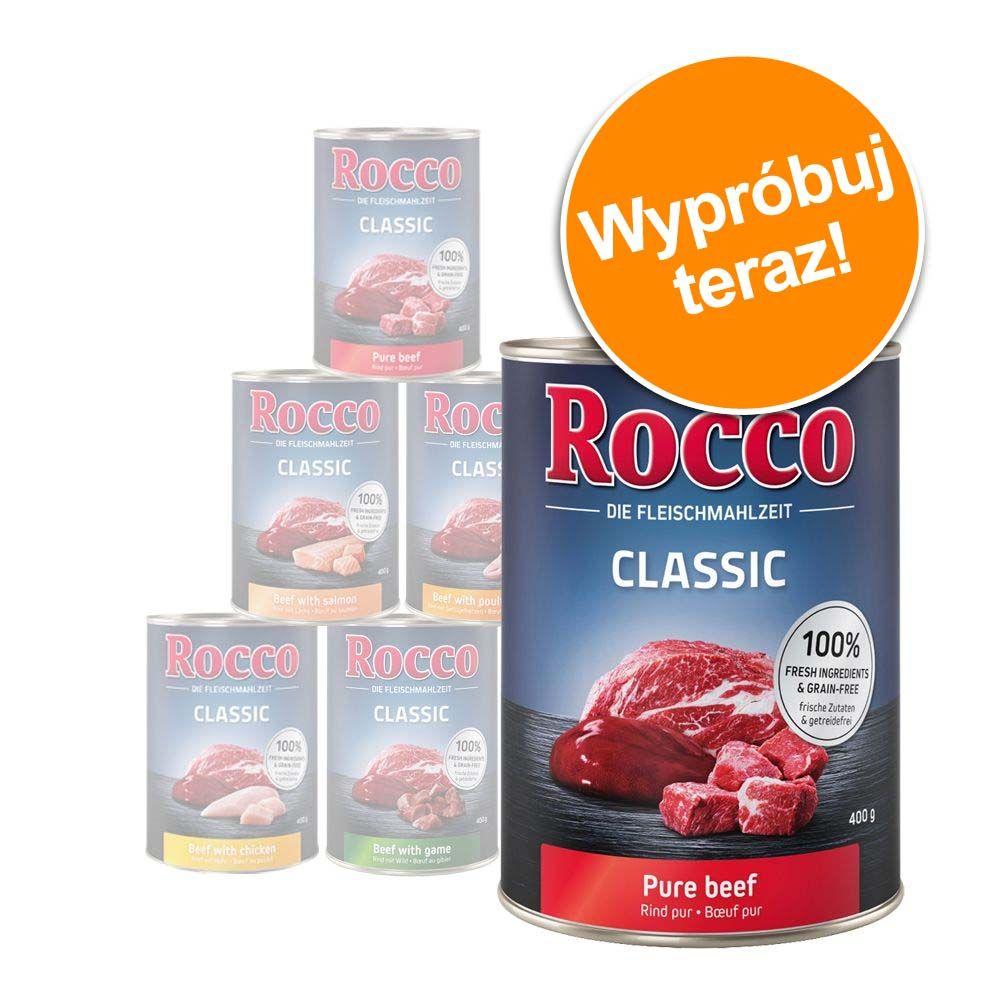 Mieszany pakiet próbny Rocco Classic, 6 x 400g - 6 różnych smaków