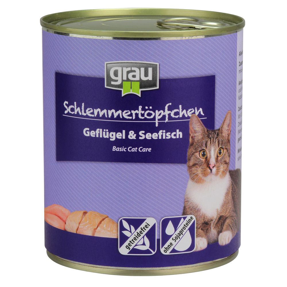 6x800g Chicken & Veal Grain-Free Grau Gourmet Wet Cat Food