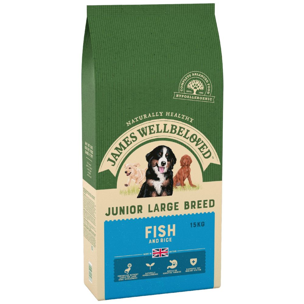 Fish & Rice Large Breed Junior James Wellbeloved Dry Dog Food