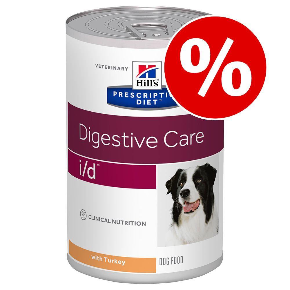 Ekonomipack: Hill's Prescription Diet Canine 36 x 370 / 350 / 360 g - i/d Low Fat Digestive Care Original