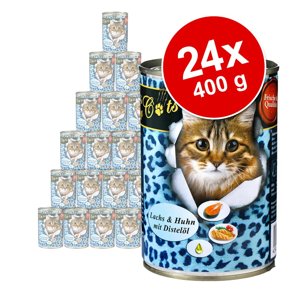Sparpaket O´Canis for Cats 24 x 400 g - Gans, Huhn & Distelöl