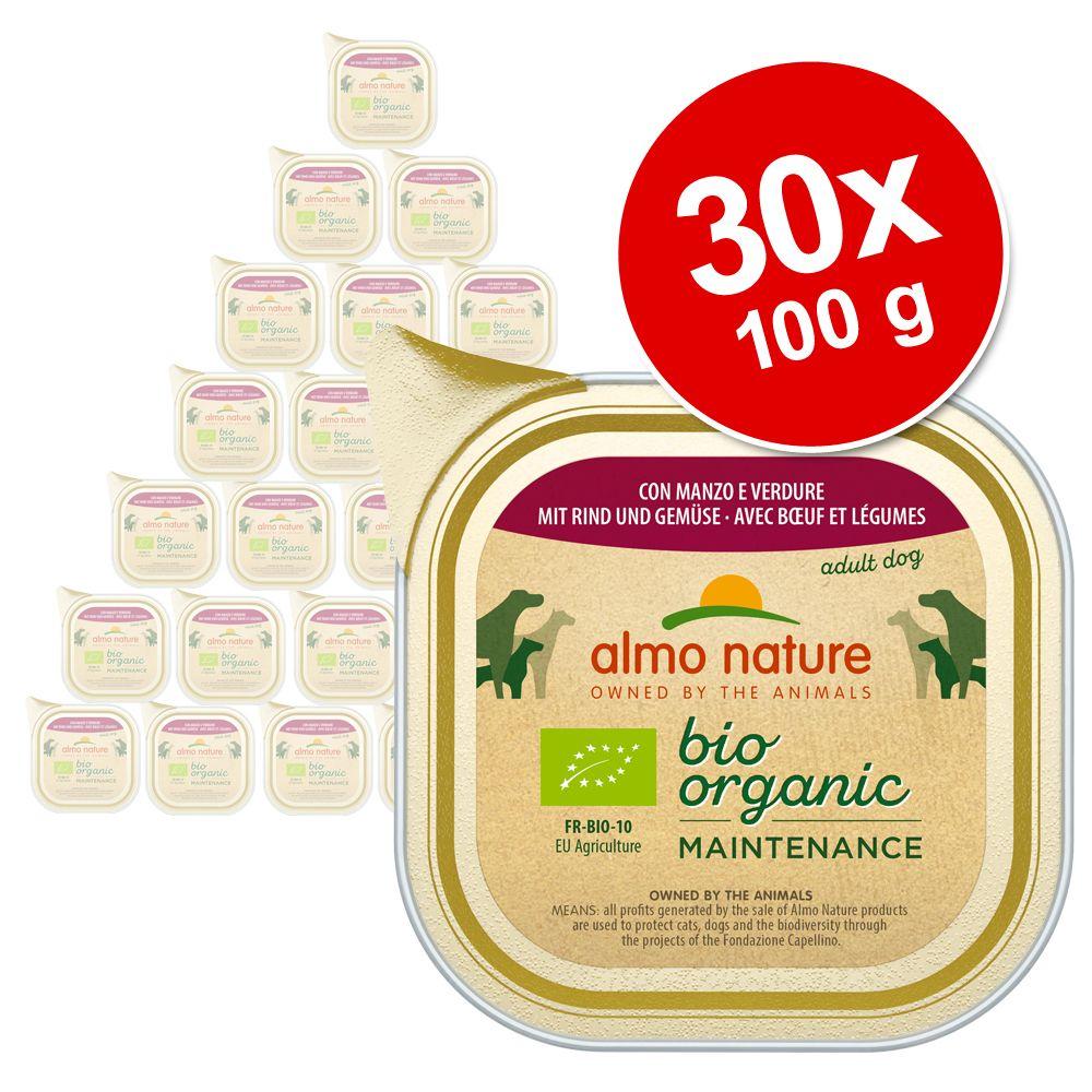 Ekonomipack: Almo Nature BioOrganic Maintenance 30 x 100 g - Kalv & grönsaker