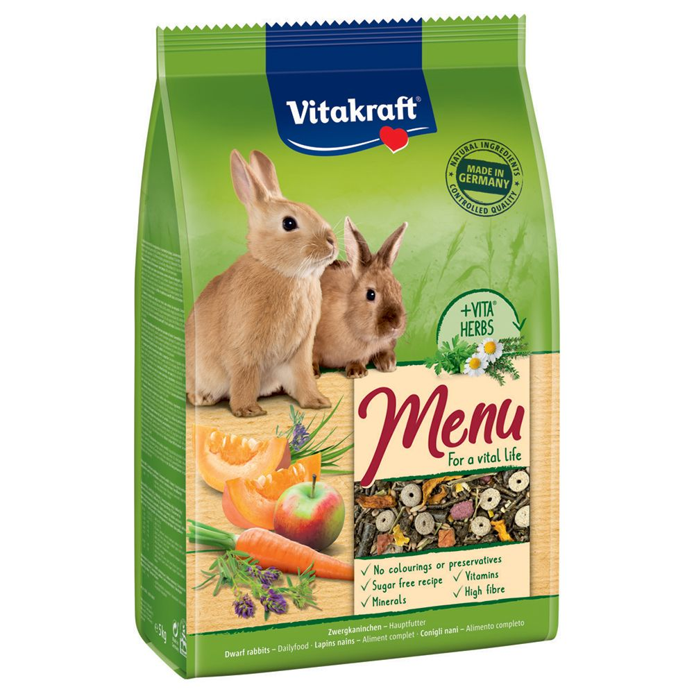 Vitakraft Menü Vital Zwergkaninchen - 5 kg