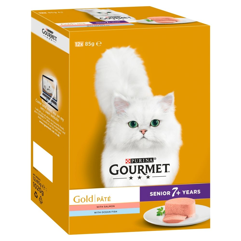 Meat Mixed Pack Senior Pate Recipe Gourmet Gold Wet Cat Food