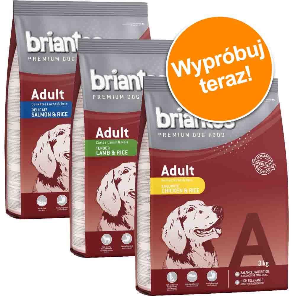 Mieszany pakiet próbny Briantos Adult, 3 x 3 kg - 3 x 3 kg