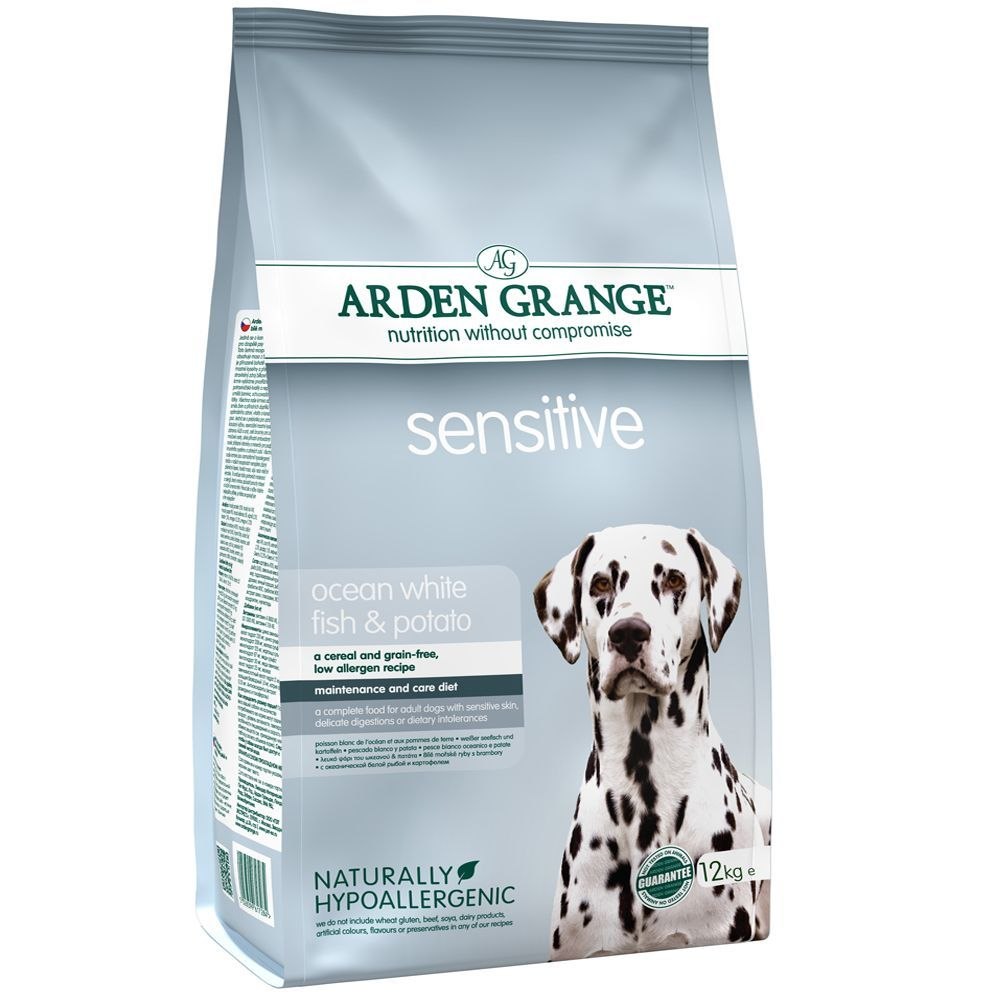 Arden Grange Adult Sensitive - Ocean White Fish & Potato - Economy Pack: 2 x 12kg