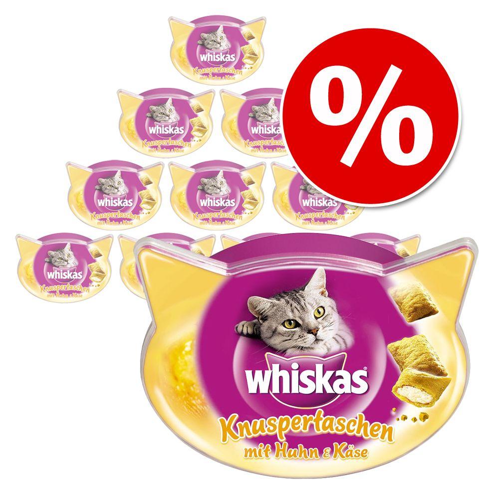 Stort ekonomipack: 10 st Whiskas kattgodis till lågpris! - Crunch med kyckling, kalkon & anka (10 x 100 g)