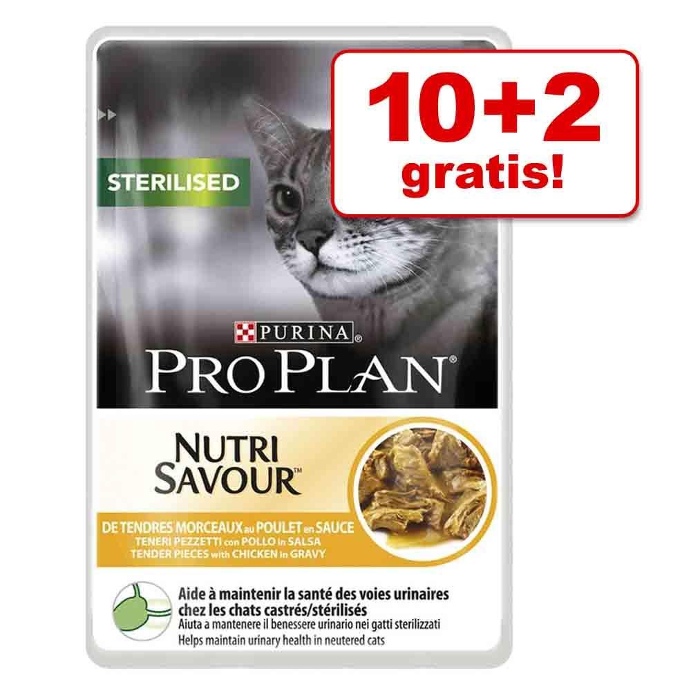 10 + 2 gratis! Karma mokra Pro Plan, 12 x 85 g - Indyk