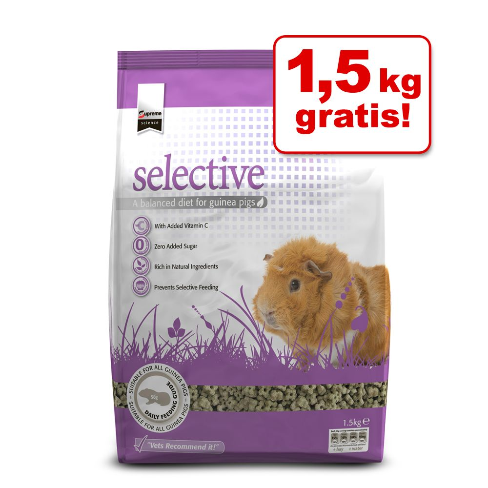 5 x 1,5 kg Supreme Science Guinea Pig + 1,5 kg gratis! - 6 x 1,5 kg