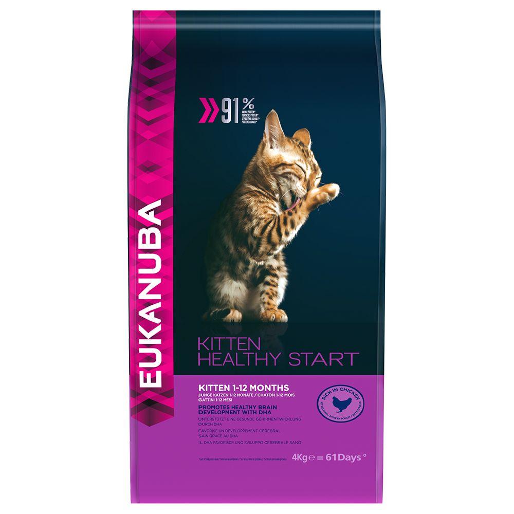 10kg Chaton Eukanuba - Kitten Healthy Start Croquettes pour chaton