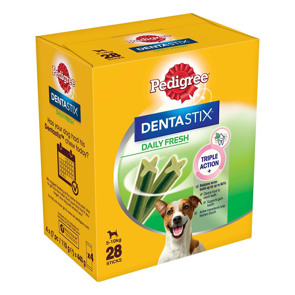 84 Dentastix Mini - Fresh Daily Oral Care Pedigree pour petit chien