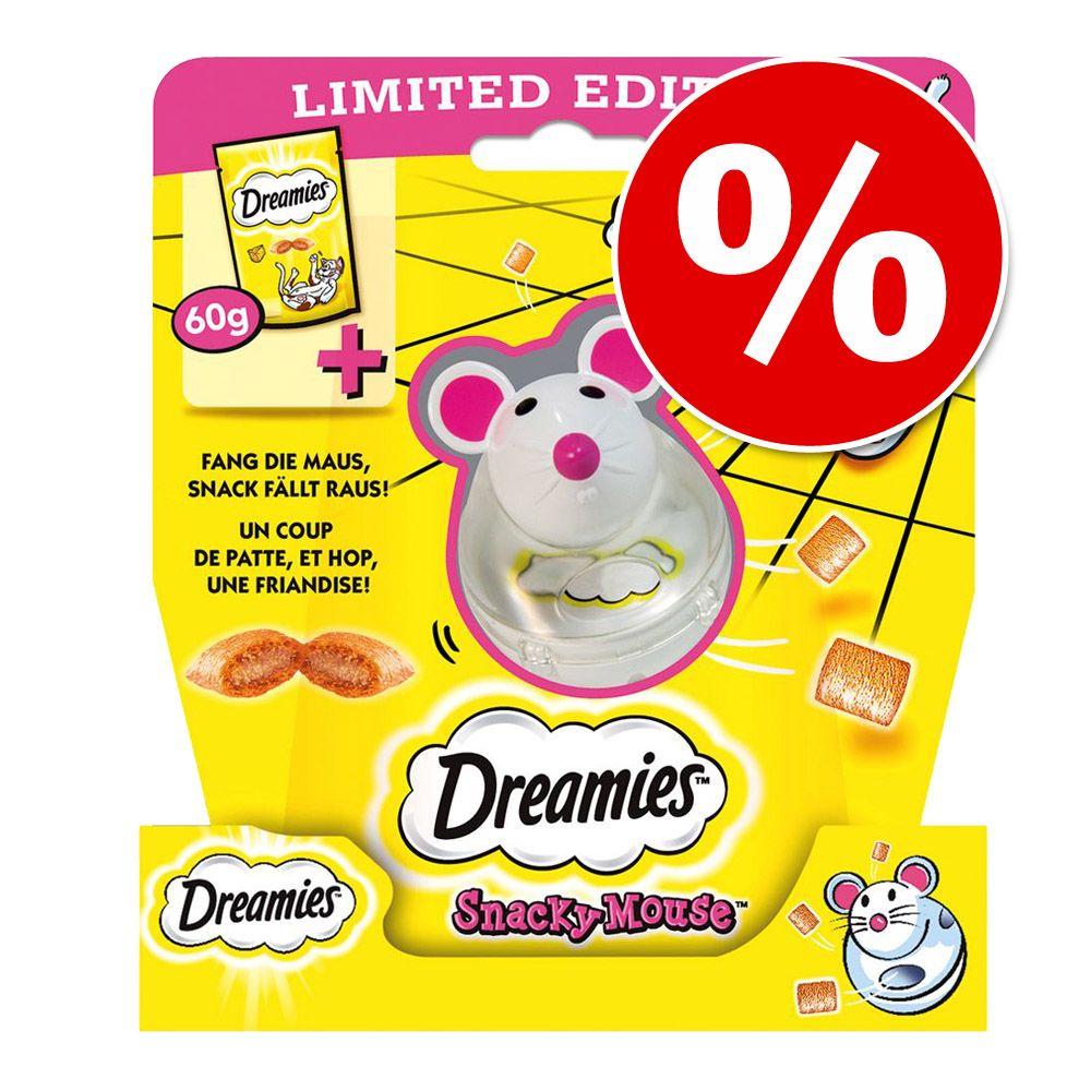 60 g Dreamies przysmaki dla kota o smaku sera z zabawką Snacky Mouse w super cenie! - 60 g