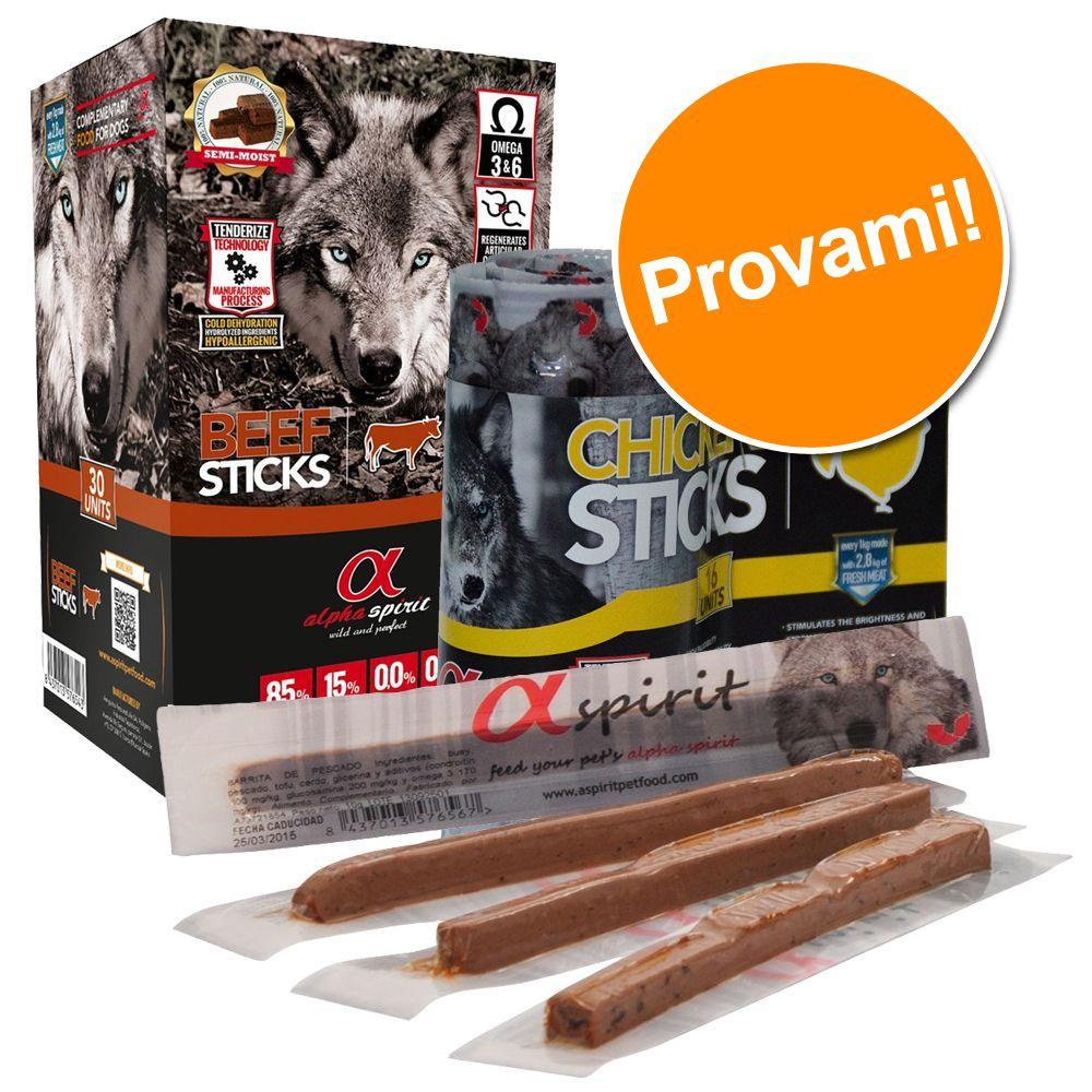 Foto Set prova misto! Alpha Spirit Sticks - 2 x 4 gusti assortiti