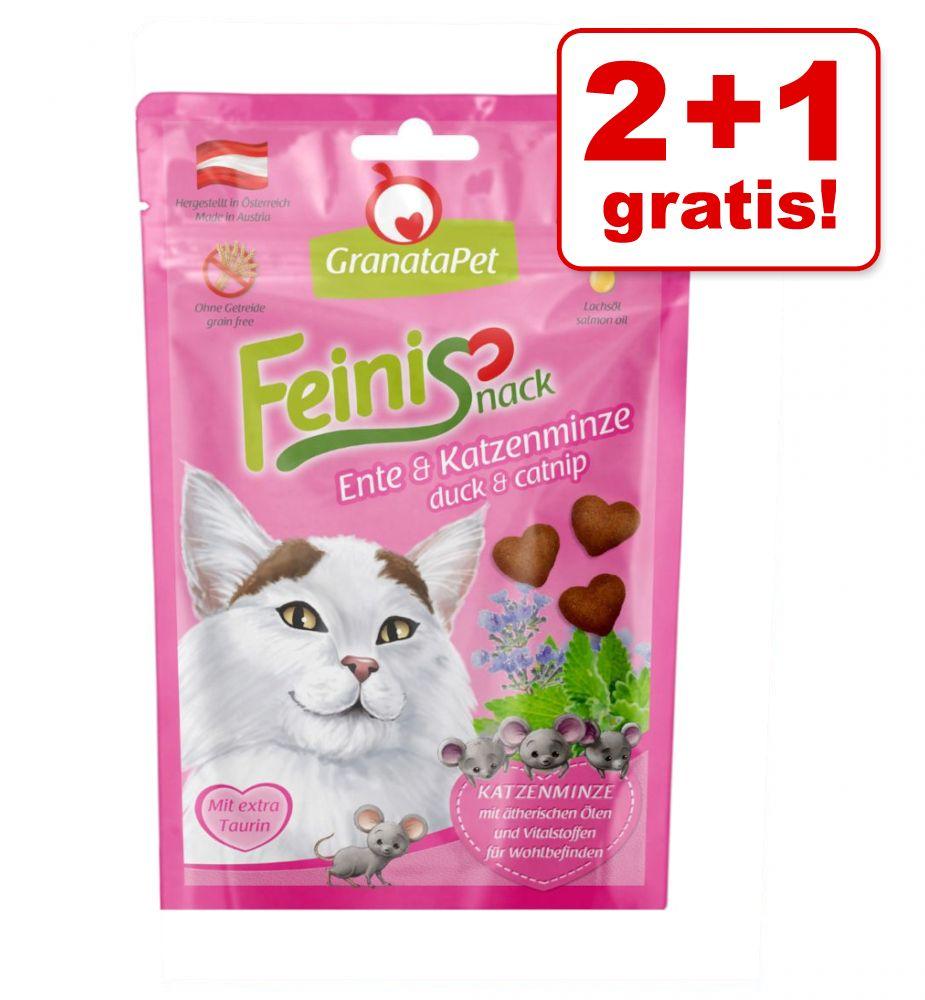Image of 2 + 1 gratis! 3 x 50 g Granatapet Feinis - Pollame & Erba gatta