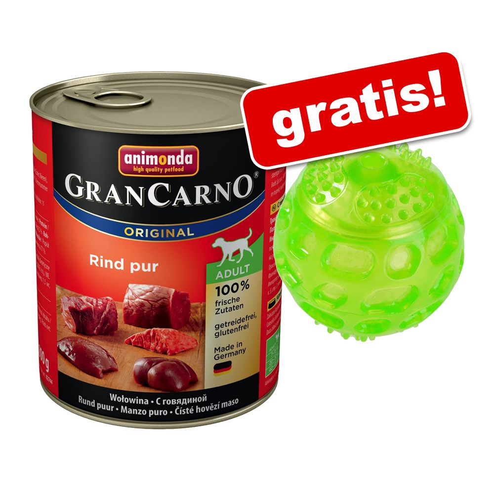 12 x 800 g Animonda GranCarno + Hundespielzeug ...