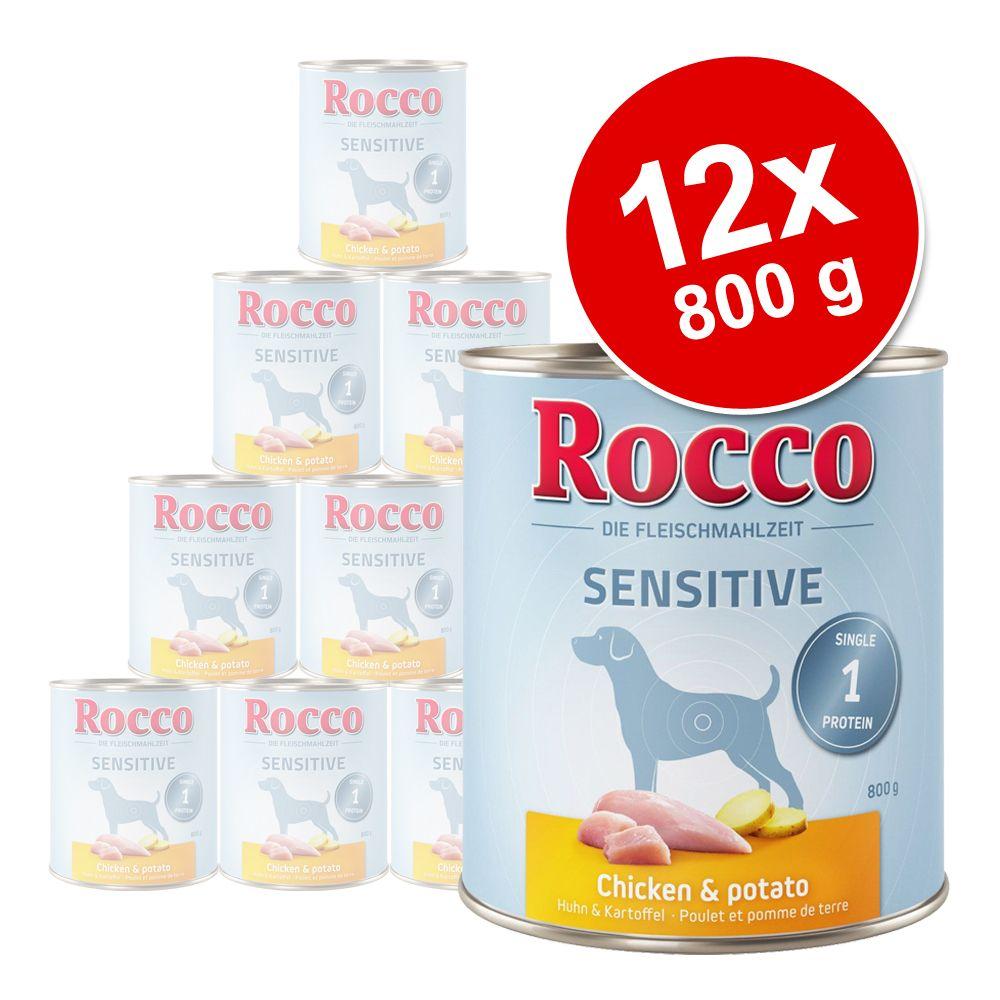 Sparpaket Rocco Sensitive 12 x 800 g - Lamm & Reis