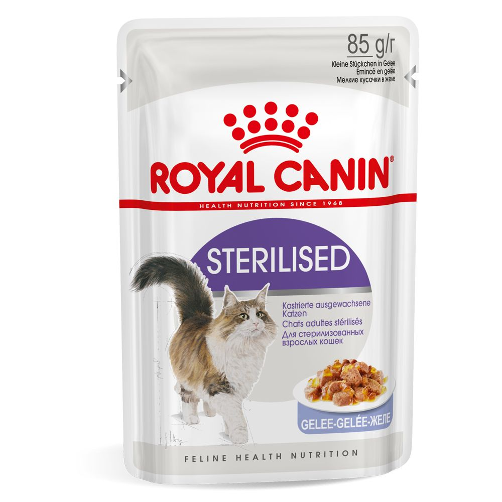 Sterilised in Jelly Saver Pack Royal Canin Wet Cat Food