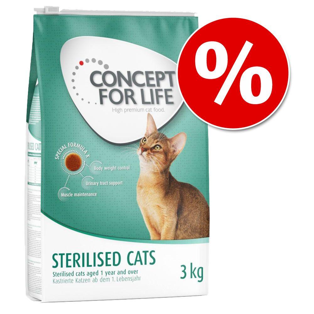 40 zł taniej! Concept for Life karma sucha dla kota, 2 x 3 kg - Sterilised Cats