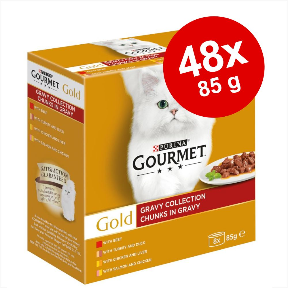 Blandpack Gourmet Gold 48 x 85 g Paté Collection med grönsaker