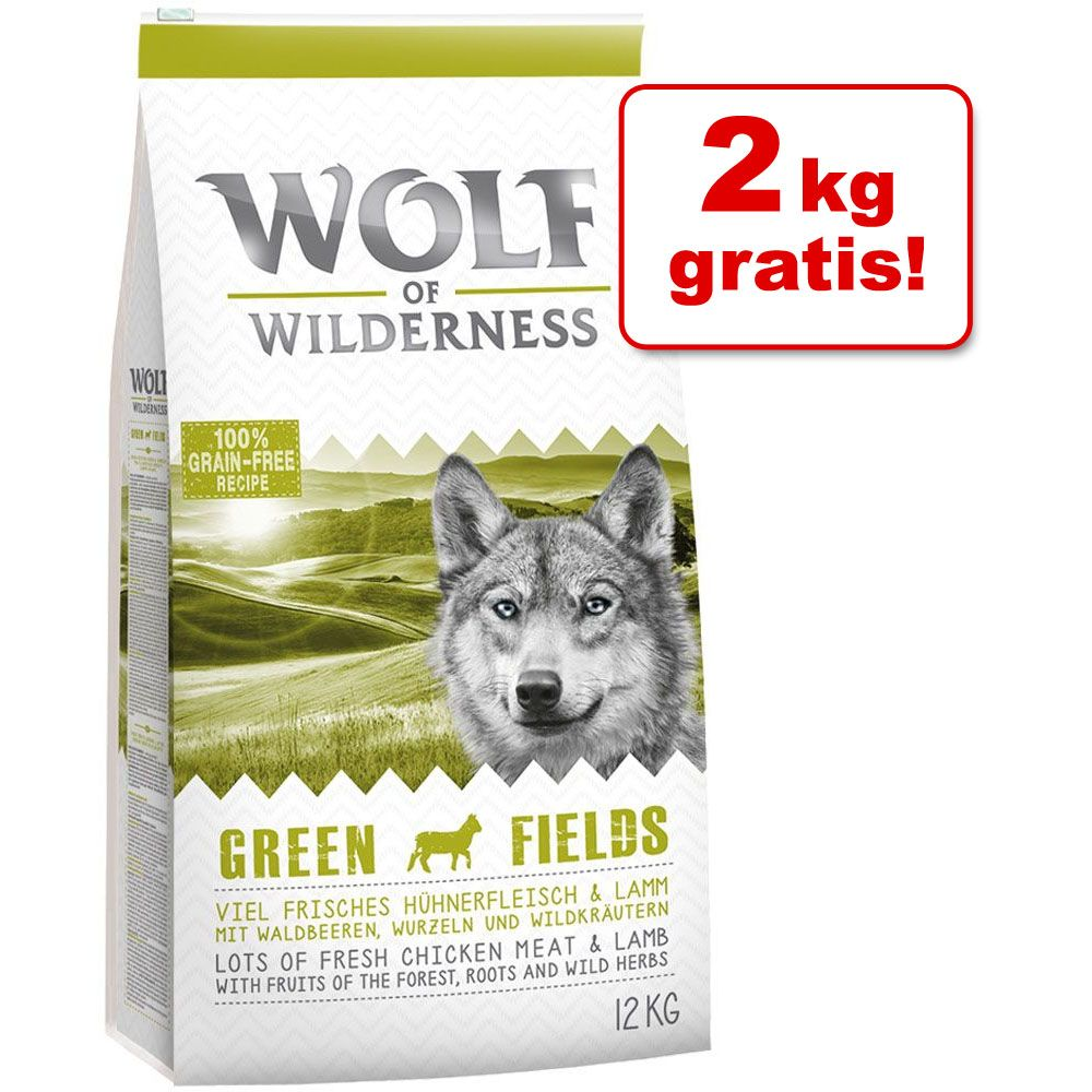 10 + 2 kg gratis! Wolf of Wilderness, 12 kg - Junior Wild Hills