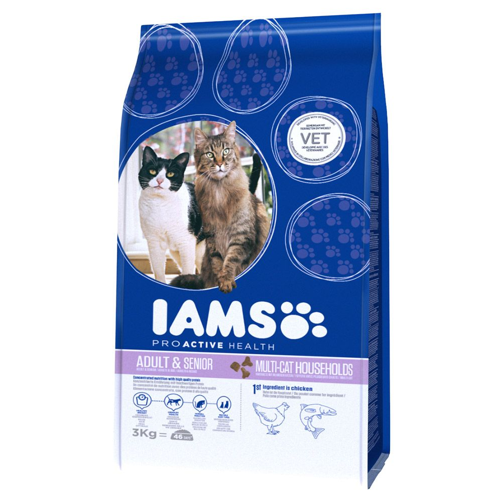 Iams Proactive Health Multi-Cat with Salmon & Chicken Dry Cat Food - Economy Pack: 2 x 15kg