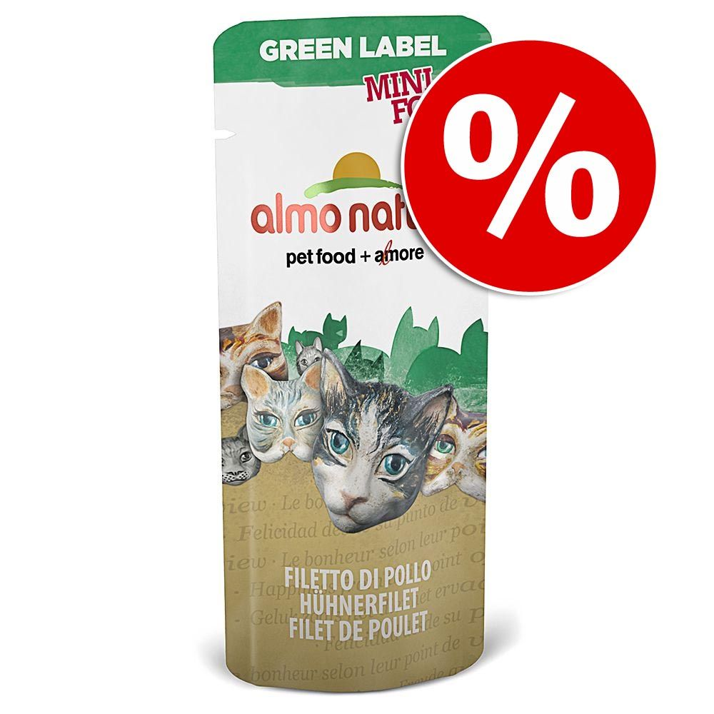 25 x 3 g Almo Nature Green Label Mini Food w super cenie!  Kurczak