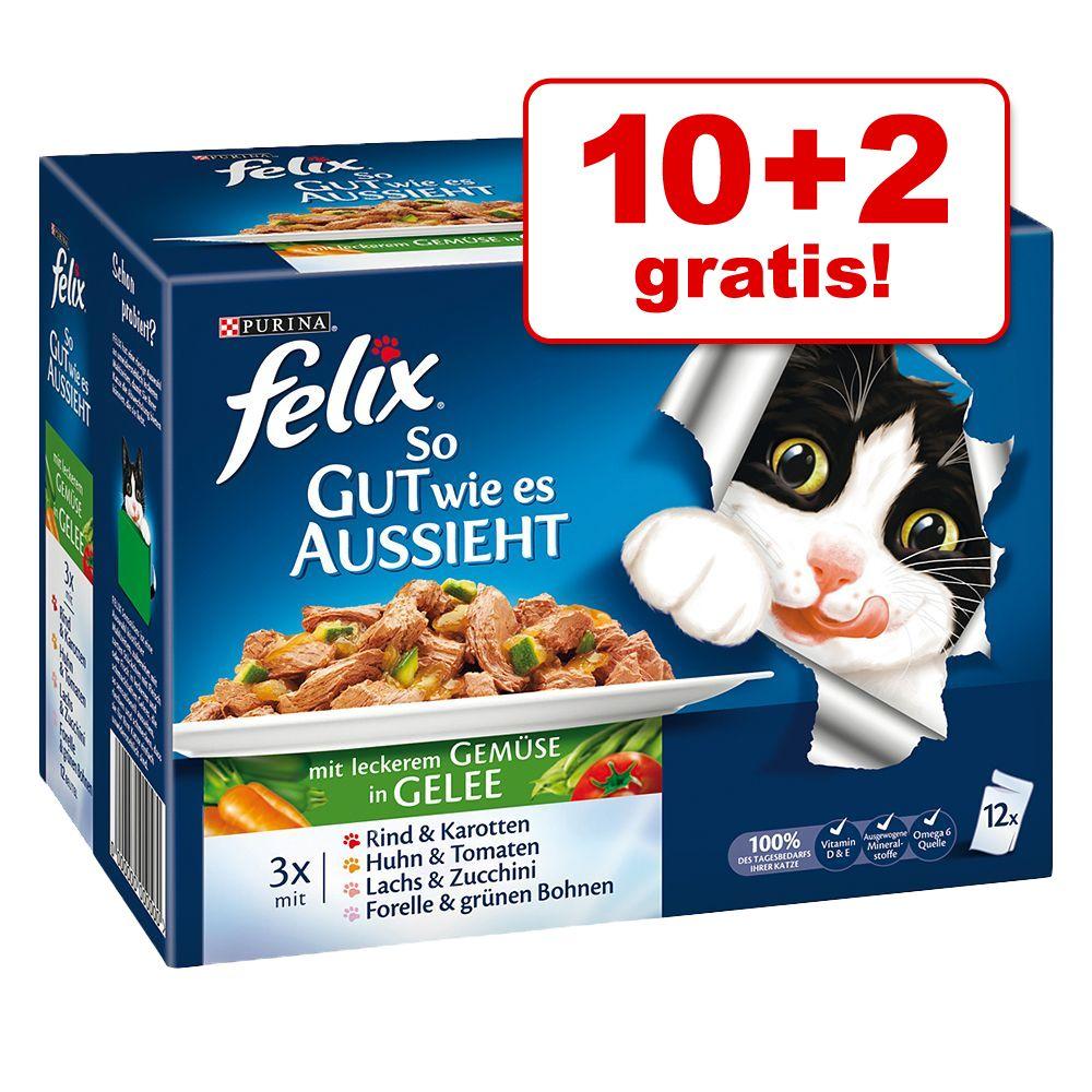 10 + 2 gratis! Felix Fantastic (So gut wie es aussieht), 12 x 100 g - Senior, 4 smaki