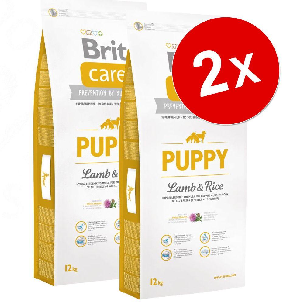 2x12kg Puppy All Breed agneau riz Brit Care - Croquettes pour chien