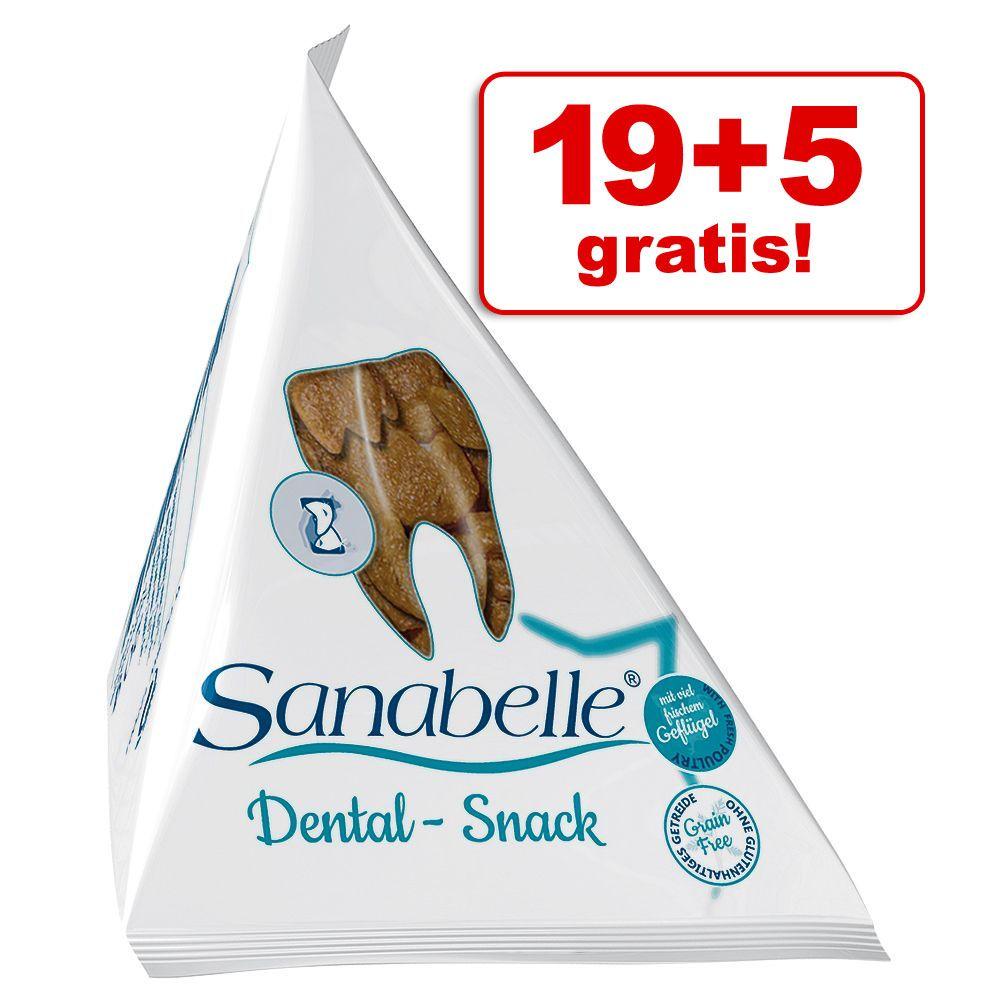 19 + 5 gratis! Sanabelle Snack 24 x 20 g - Dental