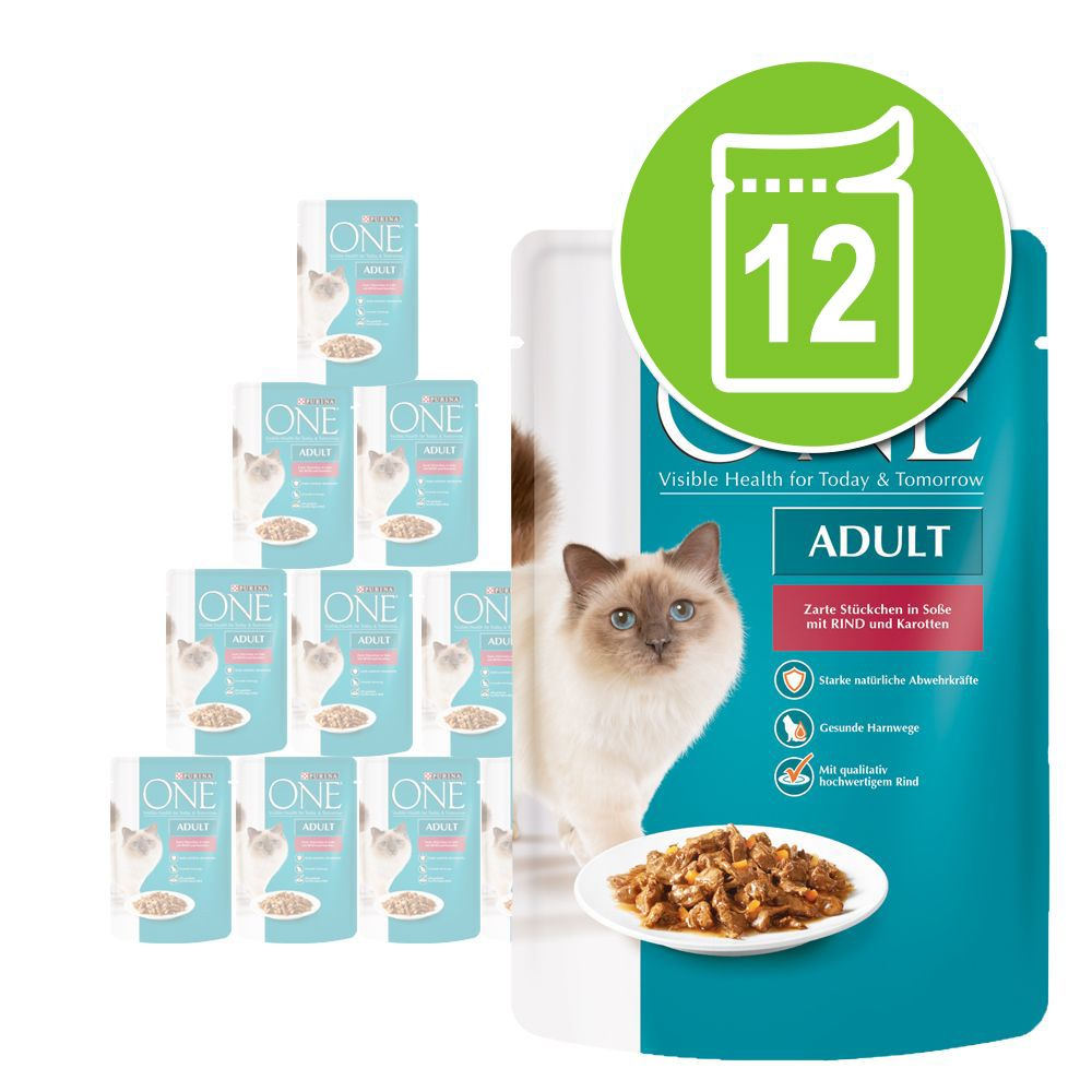 Sparpaket Purina One Adult 12 x 85 g - Sterilis...