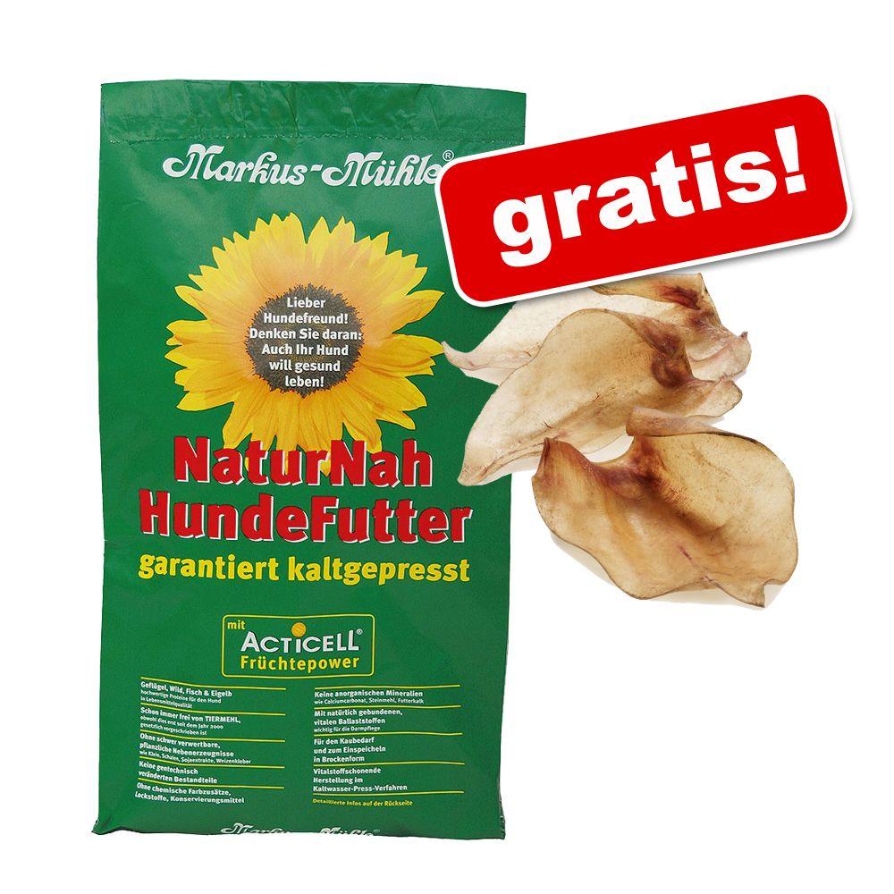 Großgebinde Markus-Mühle + 10 Stück Rocco Rinderohren natur gratis! - Markus Mühle NaturNah (15 kg)