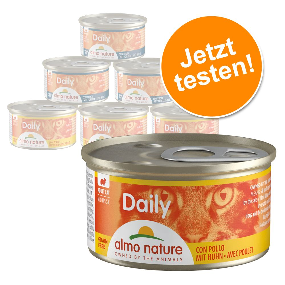 Image of 6 x 85 g Almo Nature Daily Menu Probierpaket - Mousse Fischmix