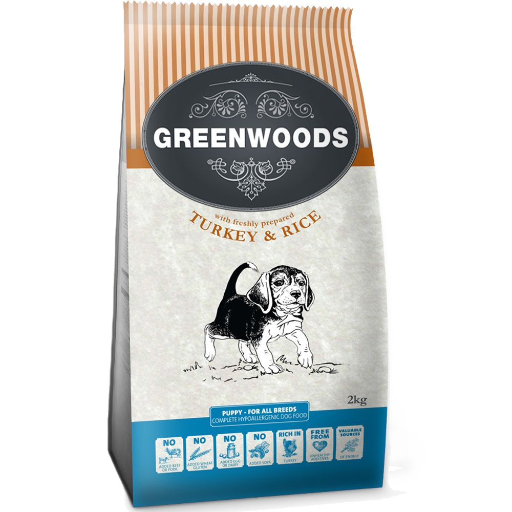 Greenwoods Puppy – Turkey & Rice - 2kg