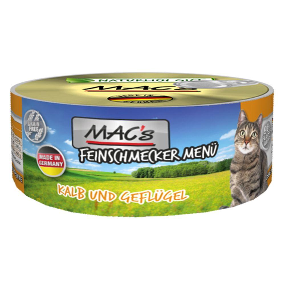 MAC's Cat Gourmet 6 x 100 g - Anka & kanin